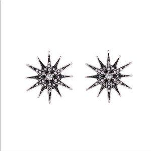 Crystal Studded Star Earrings